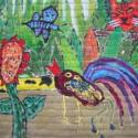 Detail muurschildering