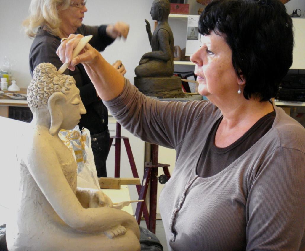 Workshop Boeddhabeeld maken